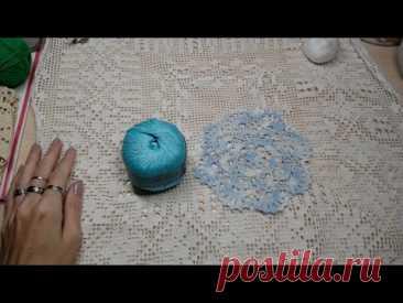 Совместное вязание. Мини-салфетка.