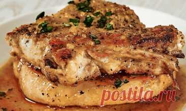 Берем 2 куска свинины и через 20 минут ставим на стол ресторанный ужин. Все делается на обычной плите