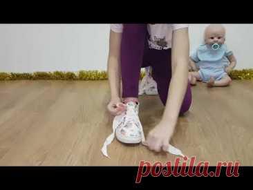 Как научить ребёнка завязывать шнурки самостоятельно.