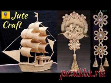 Best collection of Jute craft idea | DIY Home decorating idea handmade | Jute Art and craft tutorial