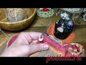 Как прибавлять петли из протяжки справа и слева от реглана без дырочек. Вязание спицами