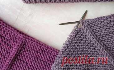 Секрет дорожки на платочной вязке