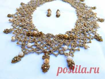 Magic Tatting Lace Jewelry Set for Magic Woman in my Etsy Shop