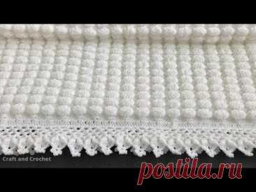 Простое вязание крючком детское одеяло / узор одеяла крючком / craft & crochet 0304
