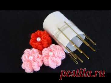 Hand Embroidery: Easy Trick for Making Flowers - YouTube
