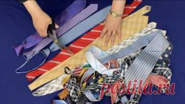 Что можно сделать из старых галстуков Что можно сделать из старых галстуковСтарые галстуки можно собирать и в итоге сделать из них замечательную вещь своими руками — симпатичную сумочку в технике пэчворк.Это несложно, но очень увлекатель...