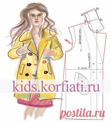 Выкройка двубортного пальто для девочки от Анастасии Корфиати Выкройка двубортного пальто для девочки. Стильное двубортное пальто для девочки не уступает взрослым моделям. Отложной воротник и карманы
