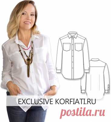 Готовая выкройка женской рубашки для скачивания от А. Корфиати Готовая выкройка женской рубашки - скачайте бесплатно. Выкройка на 42-48 размеры и инструкция по ракрою и пошиву. Рубашка прямого силуэта