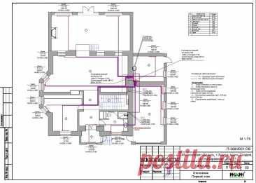 Проект отопления частного дома, пример 1556