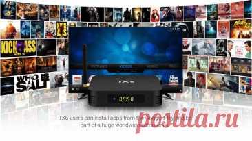 Smart TV приставка Tanix TX6 Для создания центра развлечений на вашем телевизоре Tanix TX6 - Современная Смарт ТВ приставка на современной операционной системе Android 9.0 под управлением лаунчера Alice UX, более удобная и оптимизированная версия рабочего стола. Устройство имеет в начинке современный и мощный четырехъядерный процессор Allwinner H6 Cortex A53 + видеоускоритель Mali-T720.