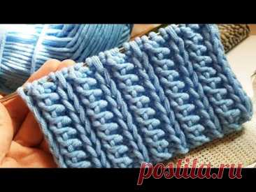 Ещё один сказочный узор спицами 💃 knitting pattern. - YouTube