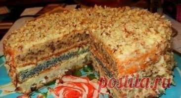 Самый популярный трехслойный домашний торт – объедение!