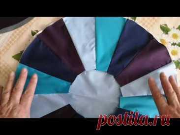 Пошив шапочки для душа из отходов от пошива курток. Первый вариант.