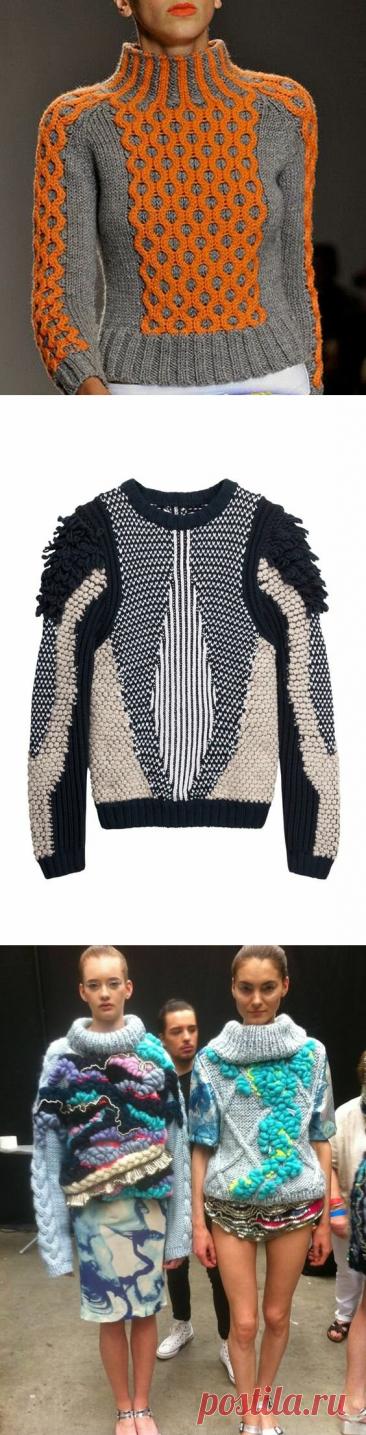 7 идей сложных свитеров. Тренд'20-'21. Внимание на текстуры. | The Wool | Яндекс Дзен