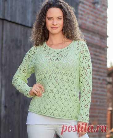 Весенний пуловер крючком