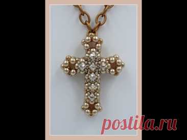 3D Cross with Montee Embellishments Pendant