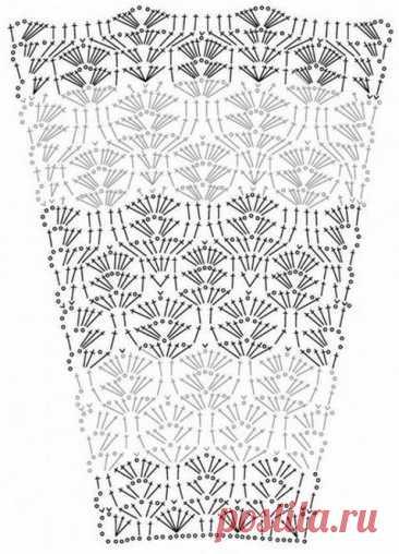 Схемы для вязаных юбок