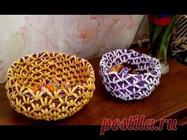 мк конфетницы корневым плетением