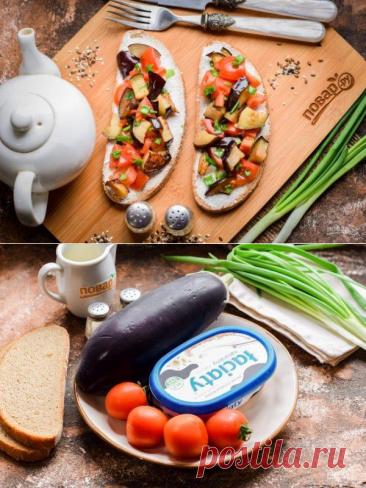 Бутерброды с баклажанами и помидорами | Вкусные кулинарные рецепты