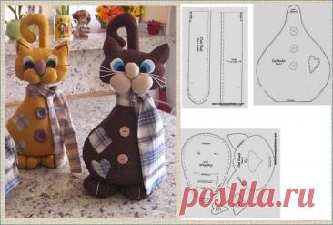 1 марта - день кошек в России, давайте скорее шить котика - не даром же я собрала 20 выкроек и 80 котиков для примера   МНЕ ИНТЕРЕСНО   Яндекс Дзен