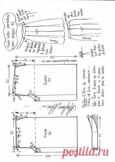 Saia calça Pantalona com pregas – Marlene Mukai