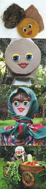 Как сделать летние садовые скульптуры своими руками. Садовница, огородник и огородница | Дача - впрок