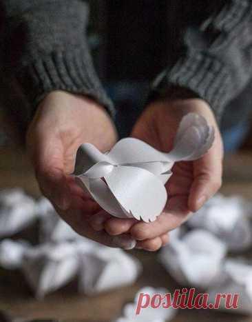 Восхитительные объёмные птички из бумаги