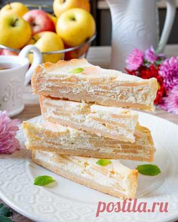 Яблочный пирог с творогом на Вкусном Блоге Яблочный сезон маячит на горизонте. А это значит, пришло время запасаться новыми яблочными рецептами. Начнем с яблочного пирога с творожной заливкой. Он готовится на песочной основе. В итоге получается очень клевый контраст сладкой основы и заливки с кисловатыми яблоками. Обязательно попробуйте испечь. Для этого пирога я выбрала прямоугольную форму для…