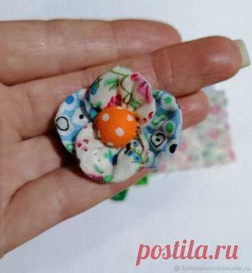 Мастер-класс : Делаем цветок из ткани на обувь или платье для куклы | Журнал Ярмарки Мастеров