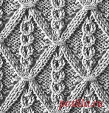 Новый узор. Блог pattern_knit_crochet  Источник: https://www.instagram.com/p/CRGmdgir57D/