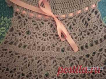 Платье для девочки крючком. Работа Ирины Промашковой