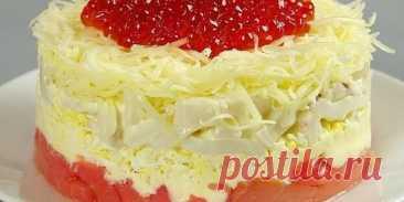 Шикарный салат «Сытый Боцман» на праздничный стол. Новогодний...