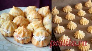 ¡profitroli con el queso de crema y el salmón! ¡Caro y es sabroso! ¡El acceso de restaurante!