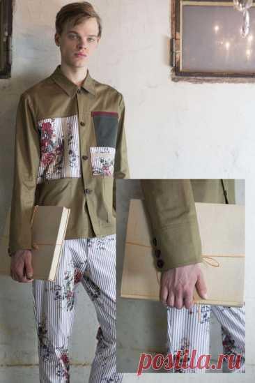 Рубашка с цветами Модная одежда и дизайн интерьера своими руками