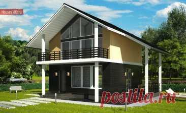 A-78 Проект компактного мансардного дома - Проекты домов и коттеджей в Москве