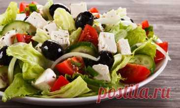 Рецепт настоящего греческого салата от Шефмаркета