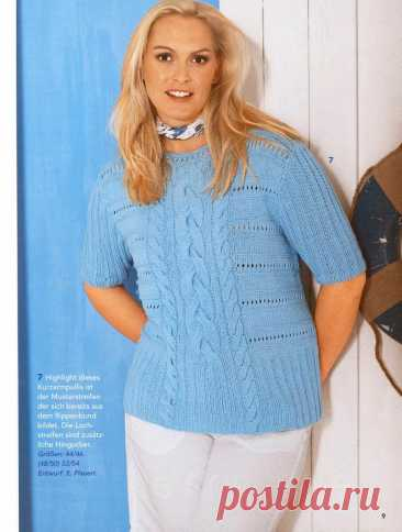 Вязание. Стильные модели для полных женщин из немецкого журнала | Сундучок с подарками | Яндекс Дзен