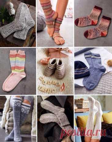 Вязаные носки, Носки спицами, Домашние туфли спицами, Шапки спицами, Вязание от Lana Grossa