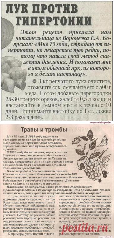 ЛУЧШЕЕ СРЕДСТВО ОТ ХОЛЕСТЕРИНА И ВЫСОКОГО ДАВЛЕНИЯ  и др.рецепты