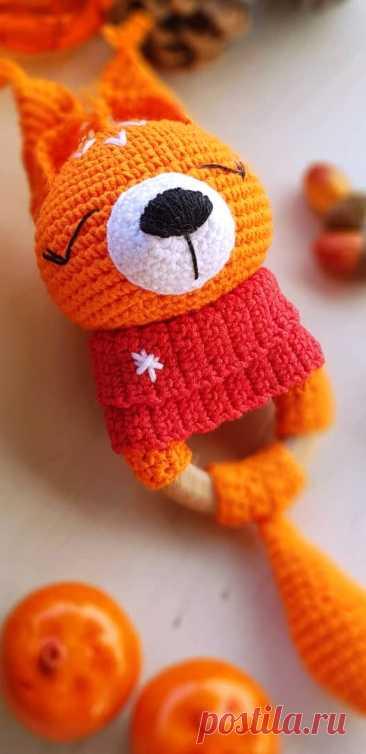 PDF Бельчонок в снуде крючком. FREE crochet pattern; Аmigurumi animal patterns. Амигуруми схемы и описания на русском. Вязаные игрушки и поделки своими руками #amimore - белка, белочка, бельчонок.