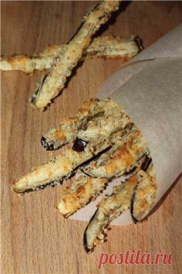 Запеченные баклажанные палочки - пошаговый рецепт с фото на Готовим дома