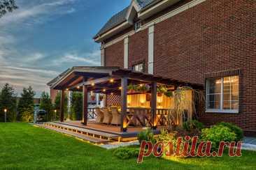 Как сделать террасу к дому – как пристроить террасу к загородному дому ли запланировать в проекте дома   Houzz Россия