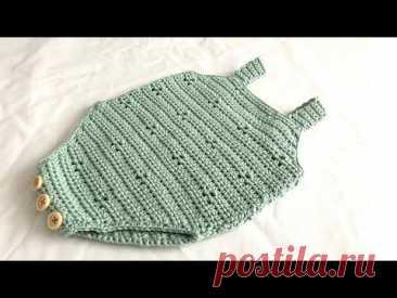 crochet baby romper Audrey