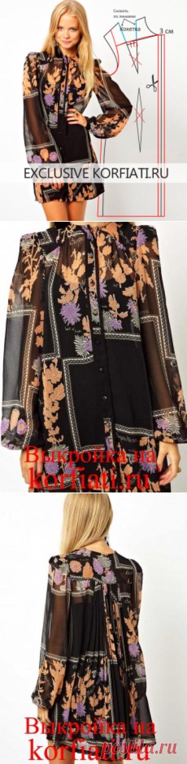 Chiffon dress a pattern from SCHOOL of SEWING of Anastasia Korfiati