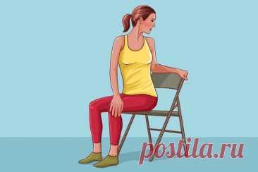 «Забыла о боли в спине от сидячей работы»: Выполняю минутное упражнение для спины ежедневно — ХОЗЯЮШКА24