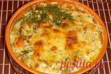 Сытный ужин для всей семьи – Картошка с курицей в сметане в духовке