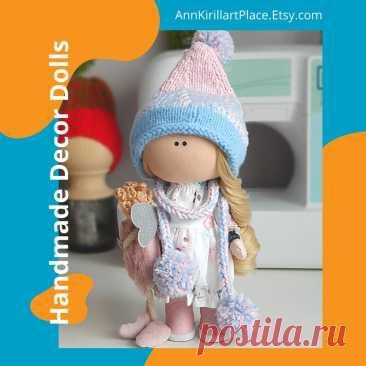 Nursery Cloth Doll Winter Tilda Doll Interior Decor Doll | Etsy