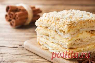 Торт Наполеон - класичний рецепт | Блог Comfy Наполеон в домашних условиях ✍️️ Рецепт коржей и крема для наполеона из слоеного теста ✪COMFY BLOG✪