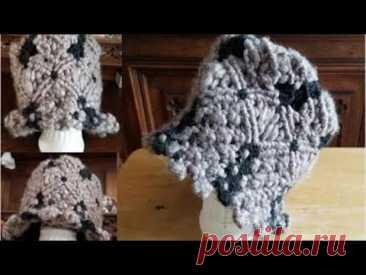 Шляпа макраме | Богемная шляпа-ведро