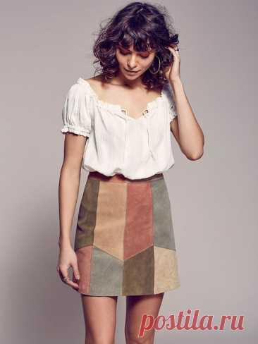 Оригинальные джинсовые юбки в стиле пэчворк Идеи для вашего швейного хобби